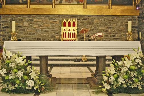 Decoración iglesia de Milenrama