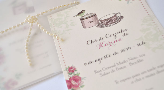 Convite de chá de cozinha Susana Fujita