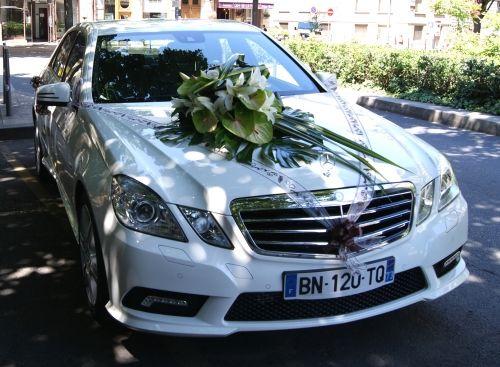 Décoration florale de voiture - Emilien Coralie