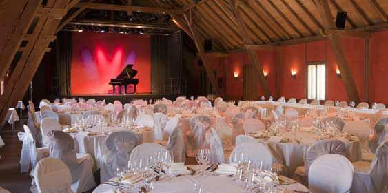 Beispiel: Event-Tischanordnung, Foto: Fürstenfelder.
