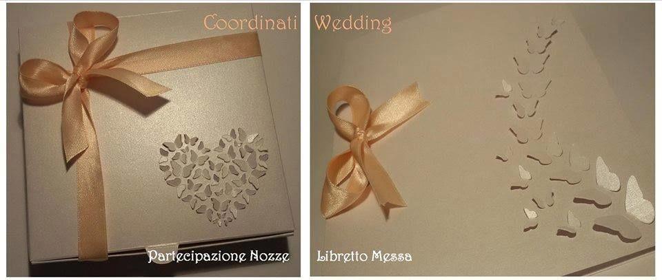 Partecipazione Nozze in box e  Cover libretto messa in coordinato