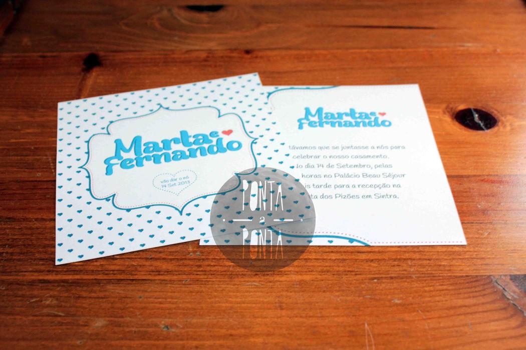 Convite M&F | 2 lados | quadrado