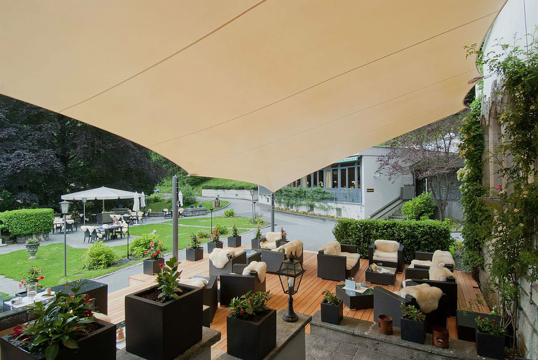 Beispiel: Terrasse, Foto: Hotel Schloss Ragaz.