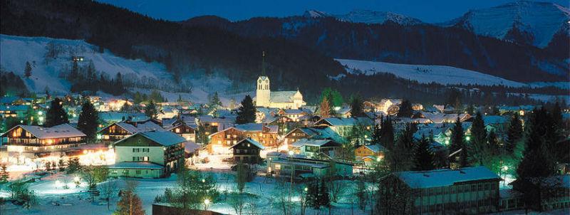 Beispiel: Hotel bie Nacht, Foto: Mondi-Holiday Hotel Oberstaufen.