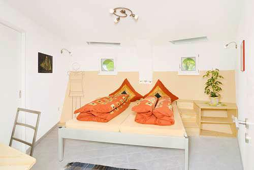 Beispiel: Gästezimmer, Foto: Bergwerksilo Herznach