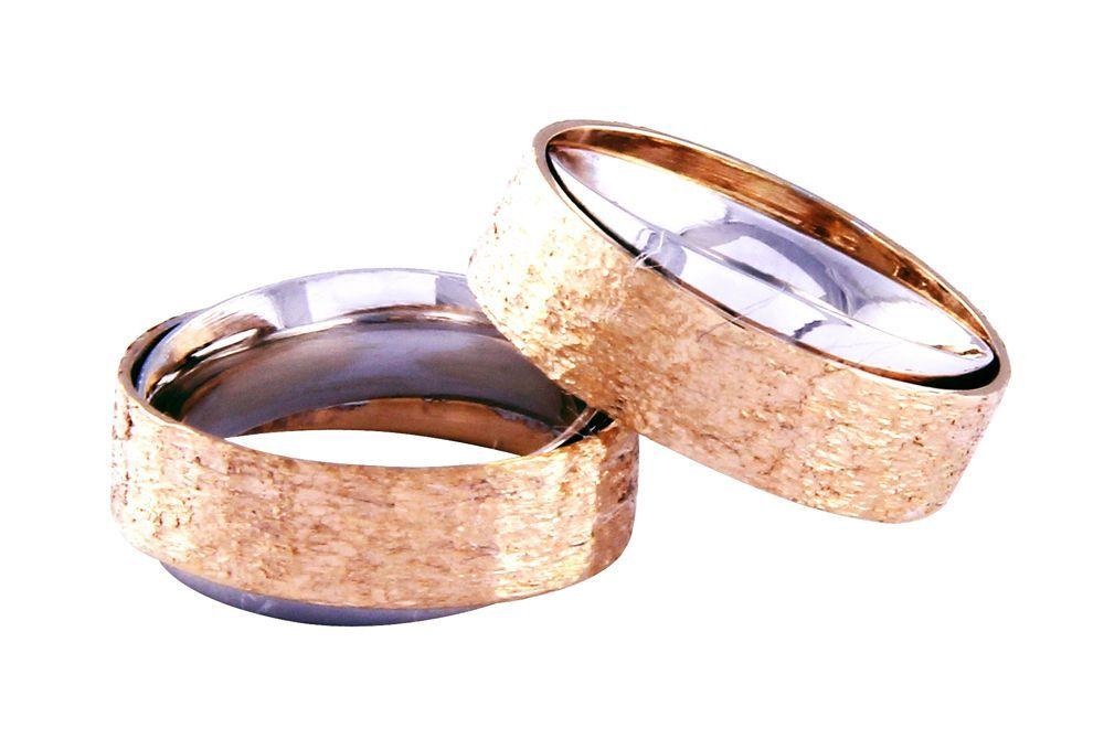 Alianças Casamento Bicolores ALBIC135AT