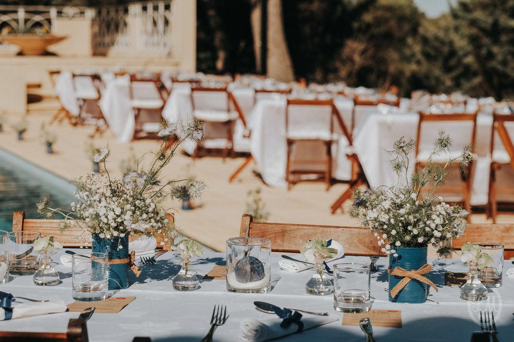 Décoration pour le Diner de la veille du mariage Photos : Studio Lm for life