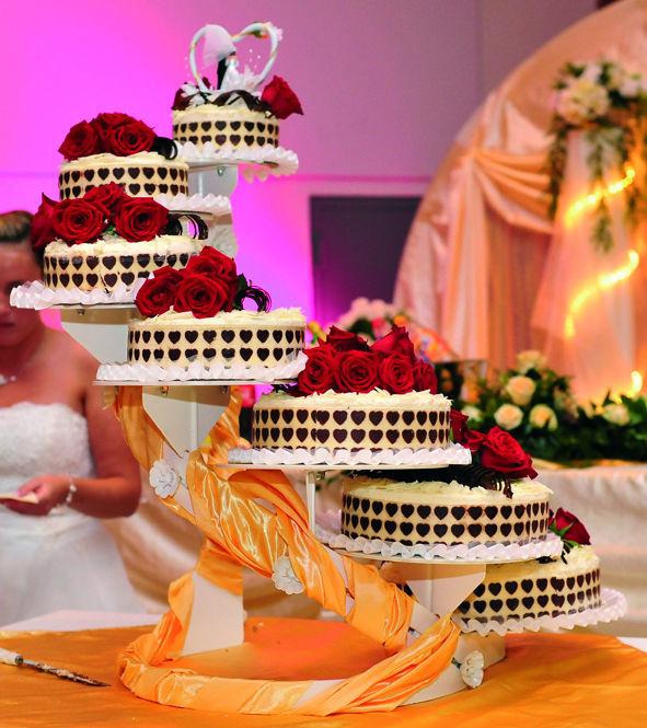 Beispiel: Hochzeitstorte, Foto: Rheingoldhalle Mannheim.