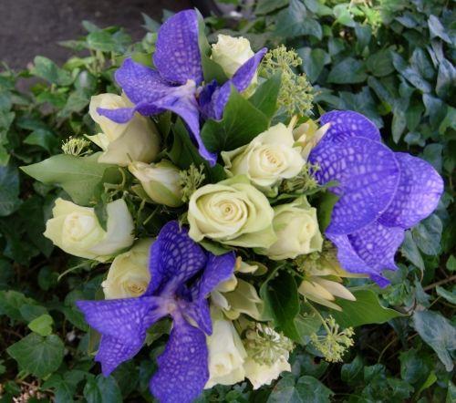 Bouquet de mariée bleu et blanc - Emilien Coralie
