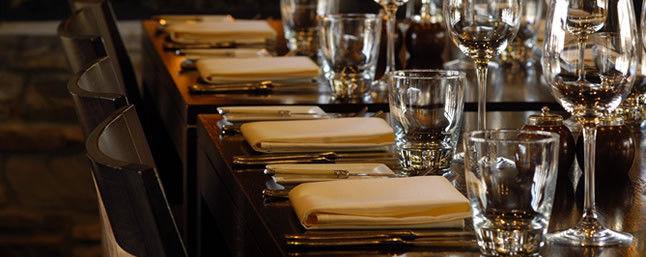 Beispiel: Impression Restaurant, Foto: Hofgut Rheingrafenstein.