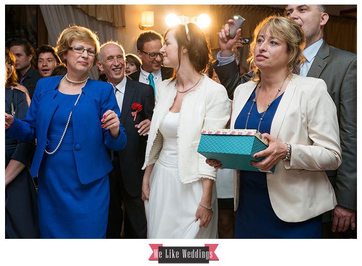 Banquete, tarta, boda, novios