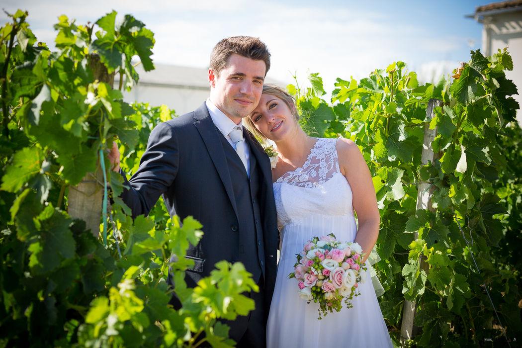 Mariage dans les vignes du Chateau Lafitte à Yvrac