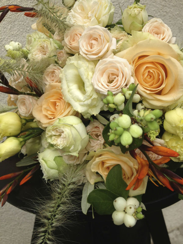 Détail de bouquet de mariée - Création Les Fées Nature
