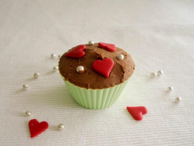 Beispiel: Cupcakes mit Herzen, Foto: Annabella Bognar.