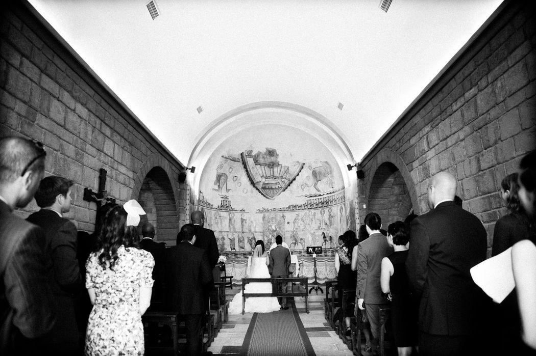 Interior Capilla Monasterio Románico
