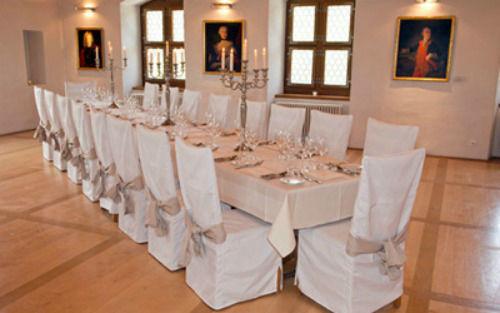 Beispiel: Hochzeitsaal, Foto: Wasserschloss Wyher.