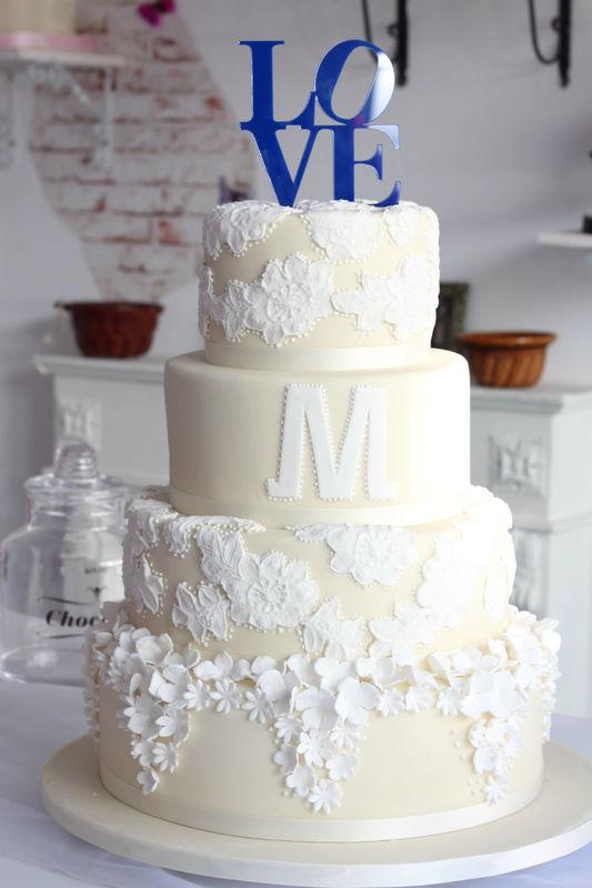 Beispiel: Hochzeitstorte, Foto: Tortenküche by Thomas Merker.