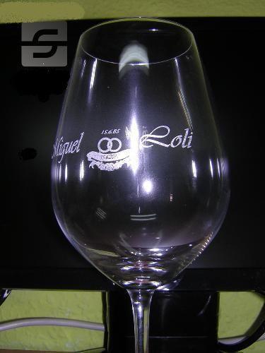 Copa de Vino Tallado especial.