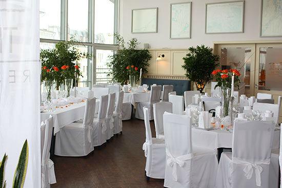 Beispiel: Hochzeitsbankett im Obergeschoss, Foto: Teepott-Restaurant.