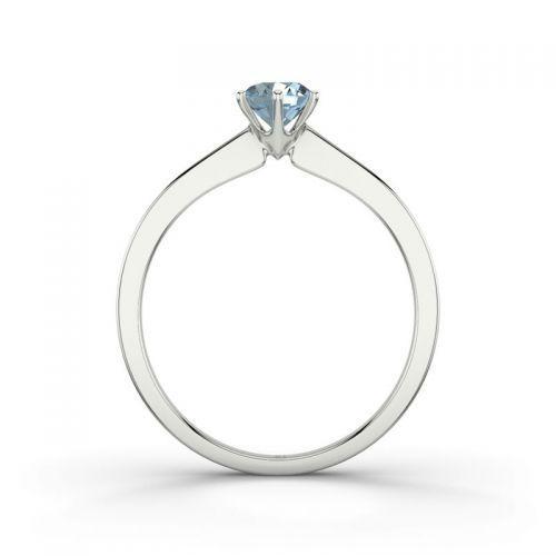Voorbeeld: Azores RI3148 - Zilver, Aquamarijn, Foto: 21 Diamonds.