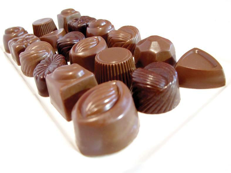 Bombons de chocolate belga