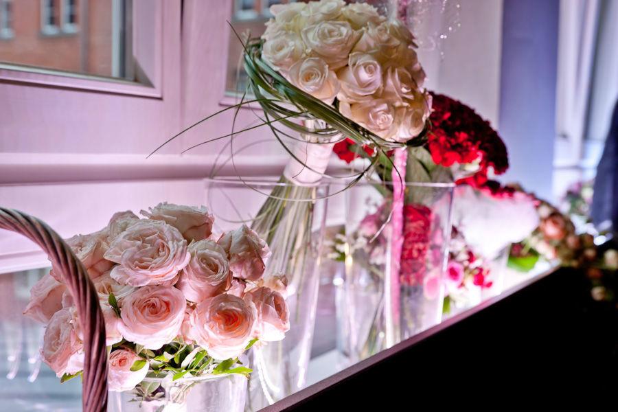 Beispiel: Hochzeitsfloristik, Foto: Angela Lanz - Floristik und Ambiente.