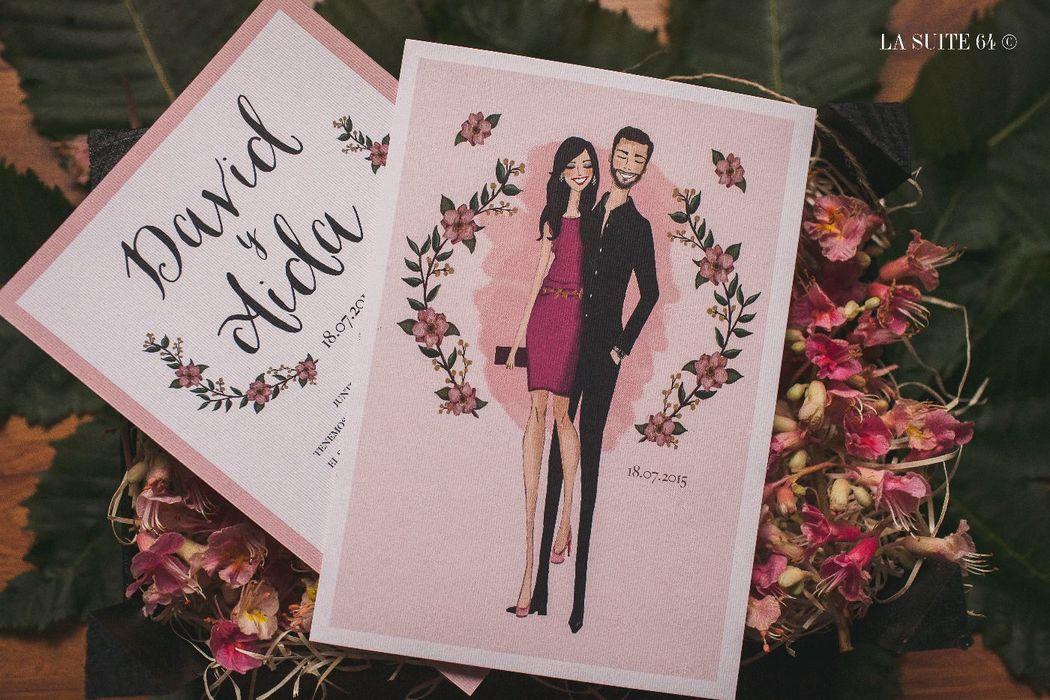 Invitación Fashion sketch personalizada