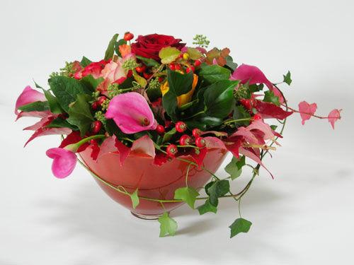 Beispiel: Blumengesteck, Foto: Beko Blumen.