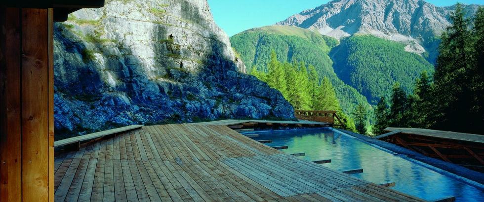 Beispiel: Aussenterasse, Foto: Hotel Castell.
