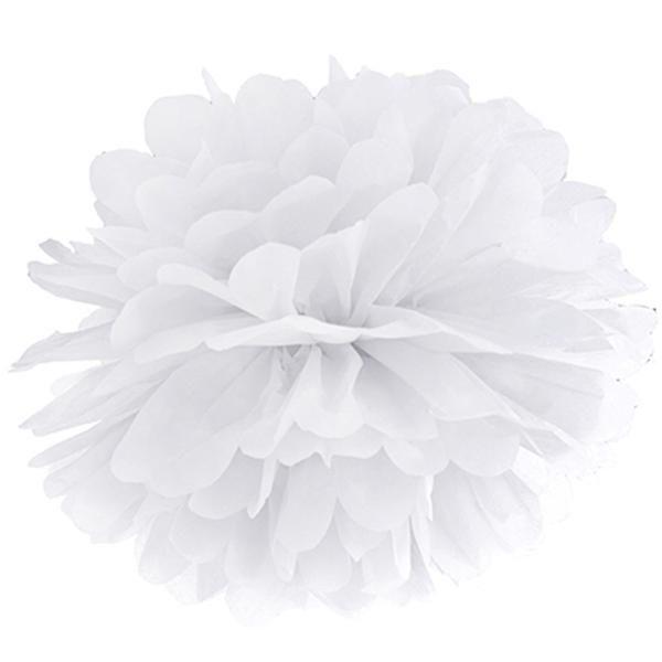 Si buscas una decoración espectacular y con un toque vintage no dejes de colocar en tu fiesta, boda, comunión, evento .. estos pompones de papel de seda blanco de 35 cms de diámetro que si los dejas caer desde el techo, árboles ... crearán un ambiente mágico!!   http://www.airedefiesta.com/product/7529/0/0/1/1/Pompon-papel-seda-Blanco-35-cms.htm