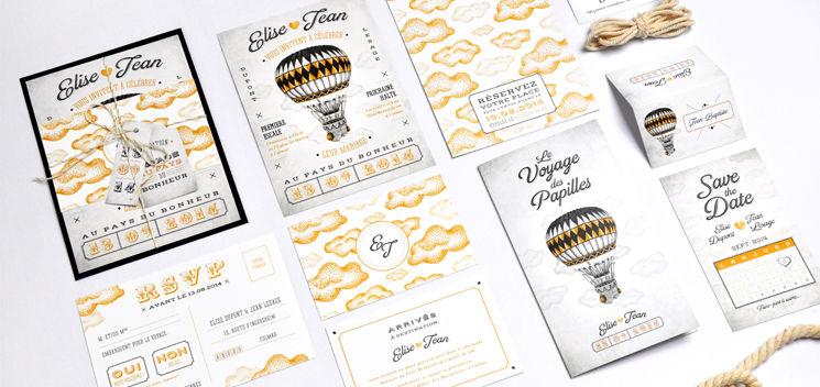 Invitation de mariage Magic Ball (collection disponible chez Print Your Love)