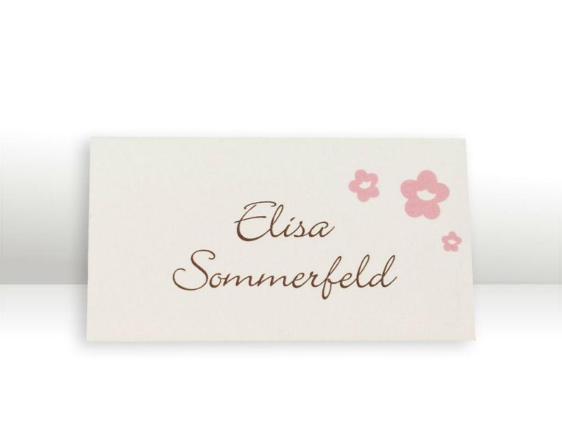 Beispiel: Tischkarte Serie Blütenzauber, Foto: Cloud9 Design.