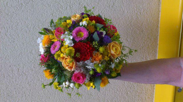 Beispiel: Hochzeitsfloristik, Foto: Die Blume.