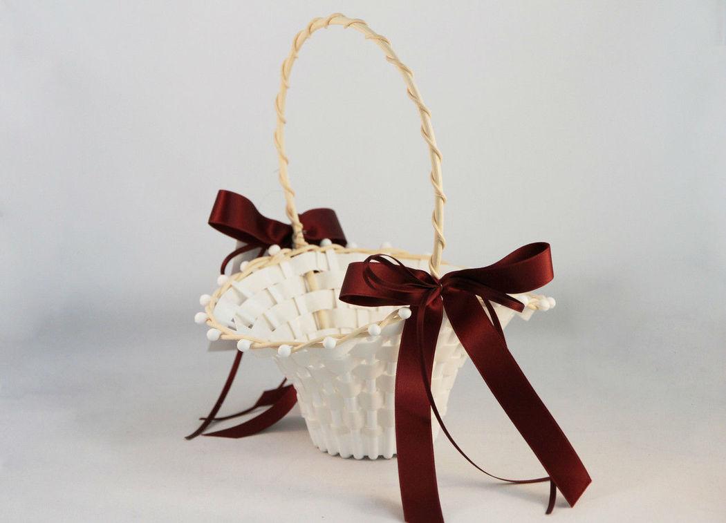 Beispiel: Streukörbchen für Blumenkinder, Foto: Weddingdress.ch.