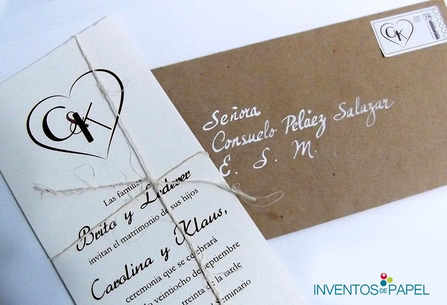 Tarjeta de boda rústica - tarjeton