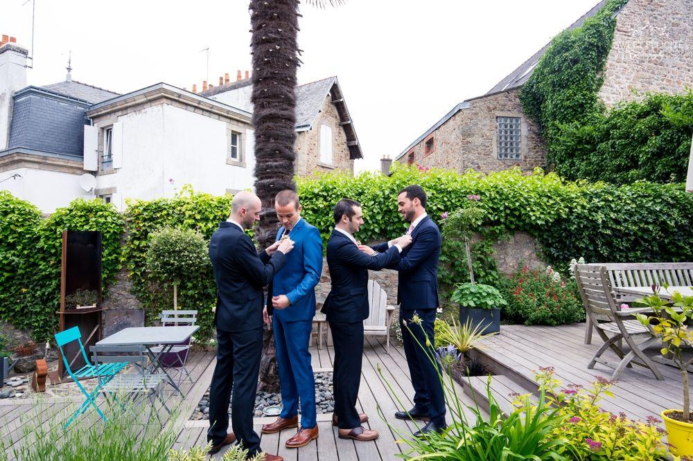 Sweet Félicité Photographie Le marié et ses témoins/ Groom and Groomsmen/Bretagne