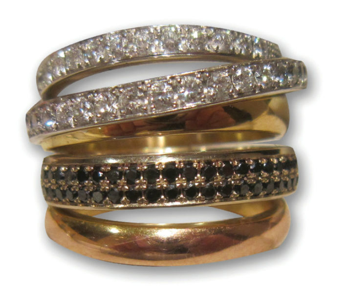 Sortija Diamantes Negros