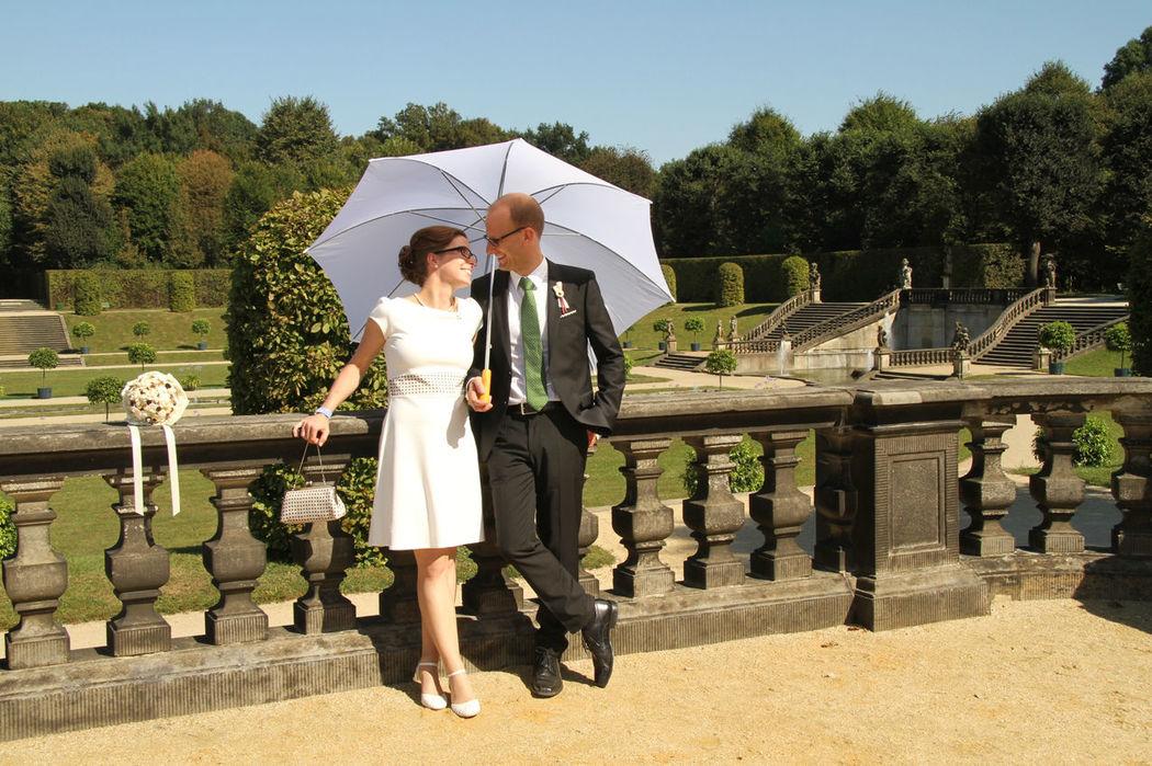 Beispiel: Regen- bzw Sonnenschutz bei Ihrer Hochzeit, Foto: wedDROPS.
