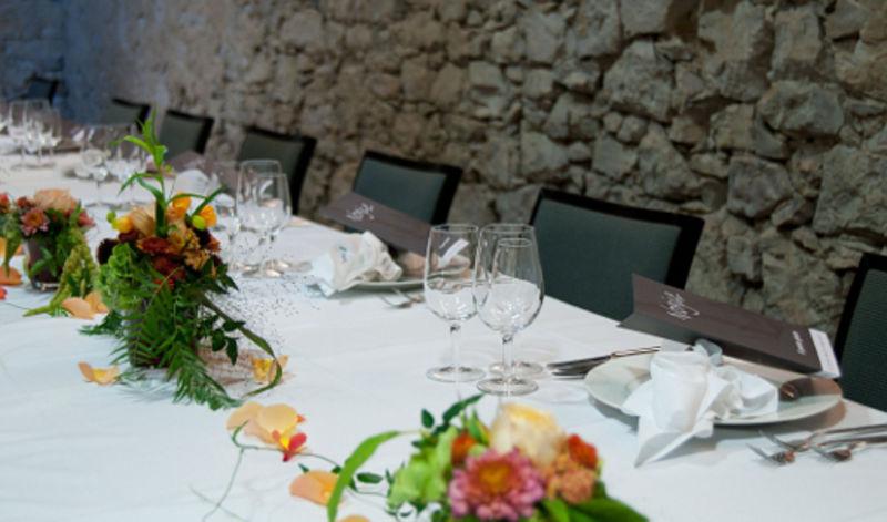 Beispiel: Tischdekoration, Foto: Schloss Waldegg.