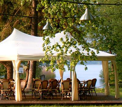 Beispiel: Außenbereich - Pavillon, Foto: Teamgeist Yachtclub.