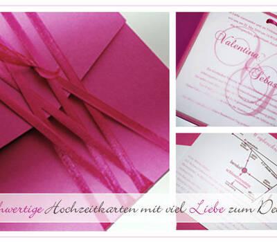 Beispiel: Hochzeitskarten, Foto: Printsonalities.