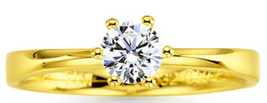 Beispiel: Damenring, Foto: Juwelier Binder.