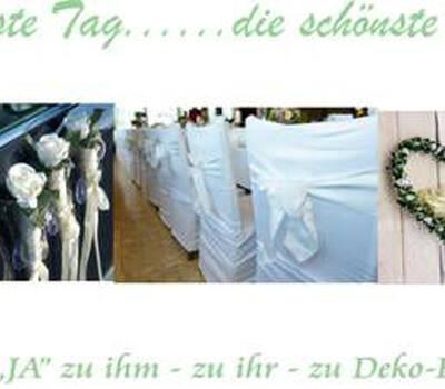 Beispiel: Hochzeitsdekoration, Foto: Deko-Rent.
