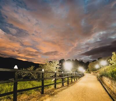 Hermosa entrada de la Hacienda