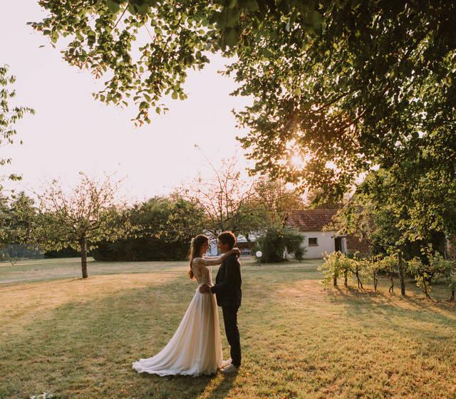 Mariage dans la Sarthe, jouer avec la lumière