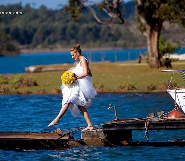 Quando a noiva resolve abusar dos nossos decks!!!!
