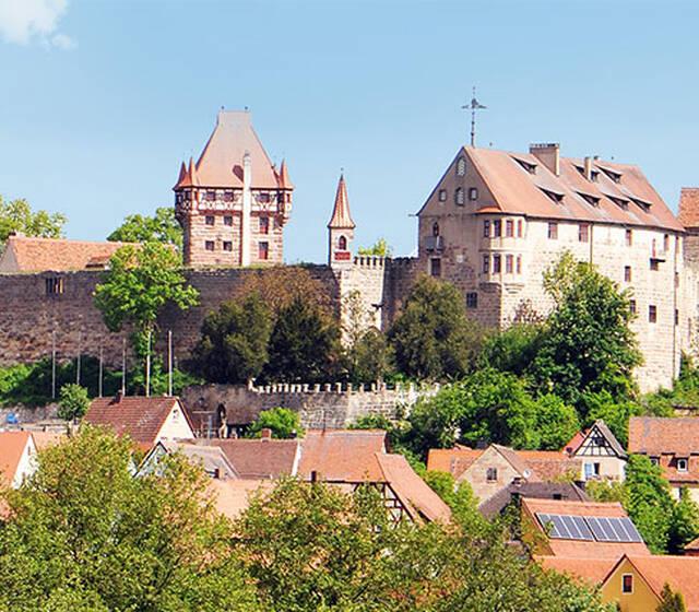 Außenansicht Burg Abenberg
