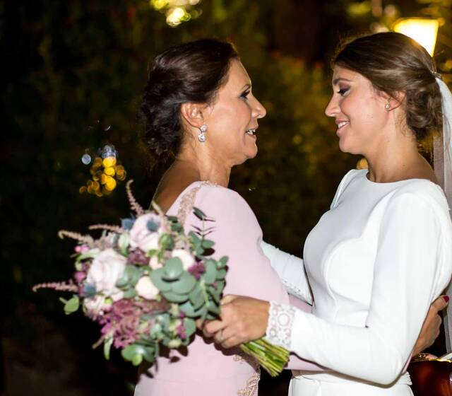 Lourdes y su madre