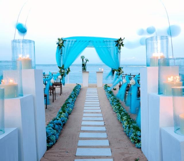 mariage laïque sur la plage
