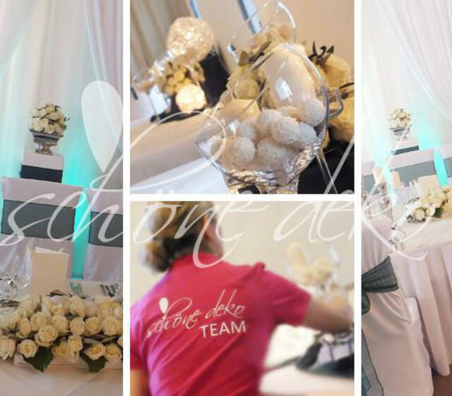 Beispiel: Dekoration Ihrer Hochzeitslocation, Foto: Schöne Deko.